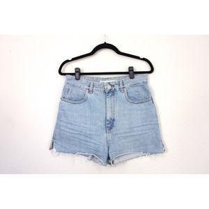 Asos Light Wash High Waisted Boxy Cut Denim Shorts
